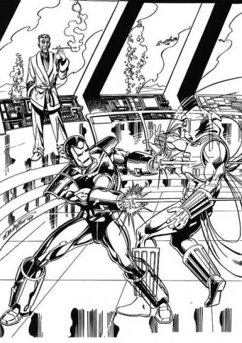 Iron Man disegni
