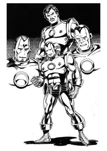 Iron Man immagini da colorare