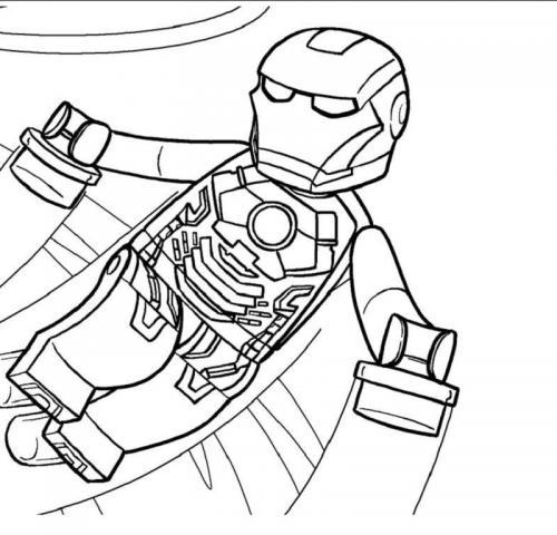 Iron Man Lego da colorare