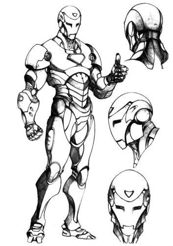 Iron Man stampa e colora