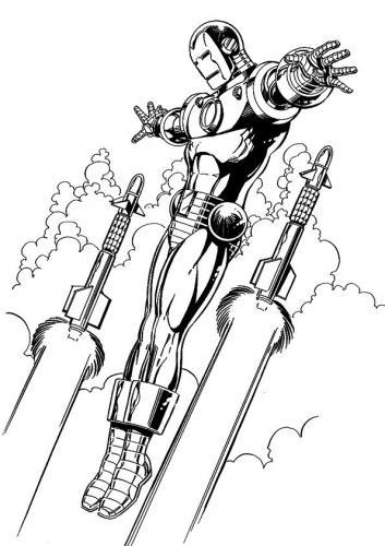 Iron Man disegni da colorare
