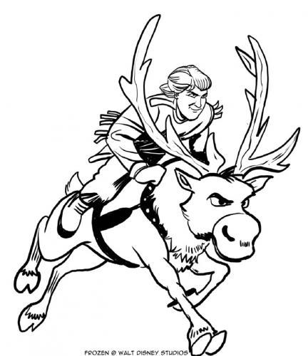Kristoff corre con Sven