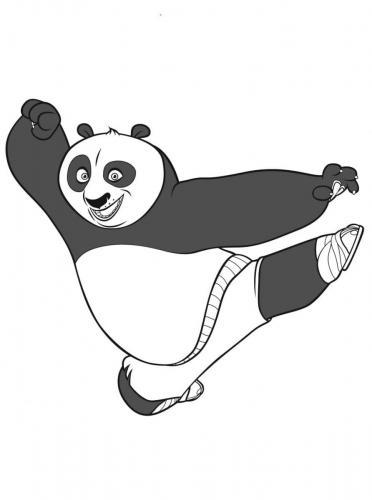 Kung Fu Panda da colorare