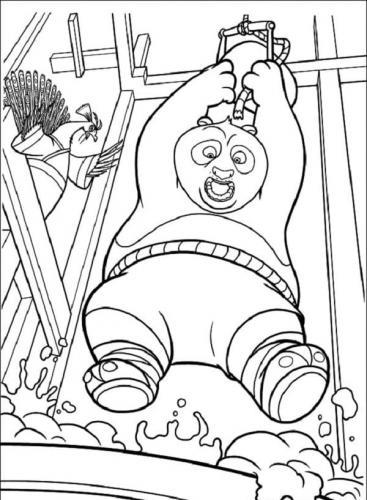 Kung Fu Panda immagini da colorare