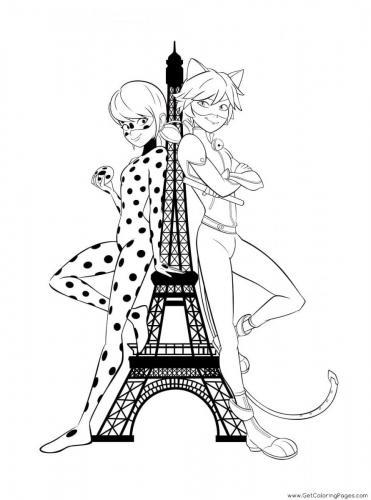 Ladybug e Chat Noir immagini da colorare