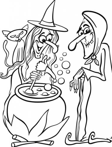 due streghe di Halloween