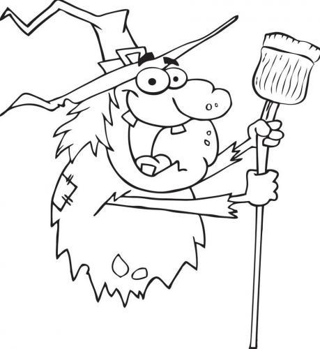 strega buffa con la scopa
