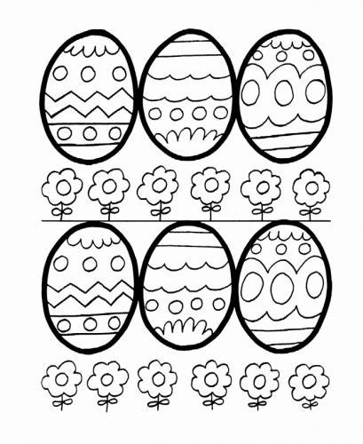 le uova di pasqua da colorare