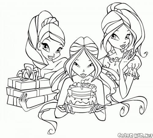 le winx Stella, Flora e Roxy