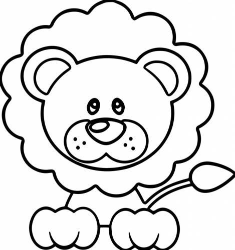 leone da colorare e stampare