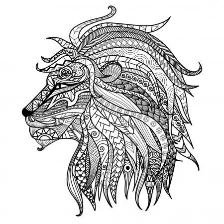 leone da colorare per adulti