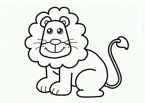 leone da colorare per bambini