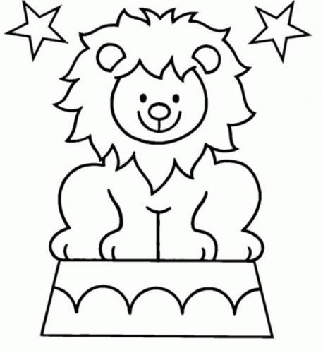 leone disegno da colorare