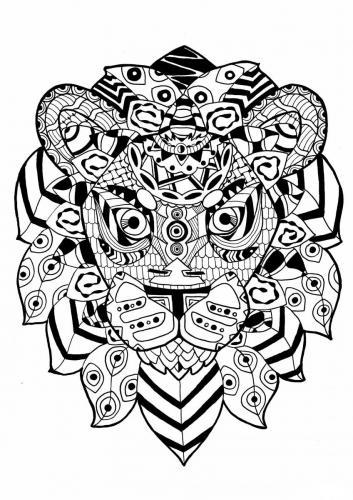 leonessa stilizzata