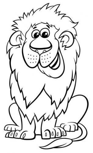 leoni immagini da colorare