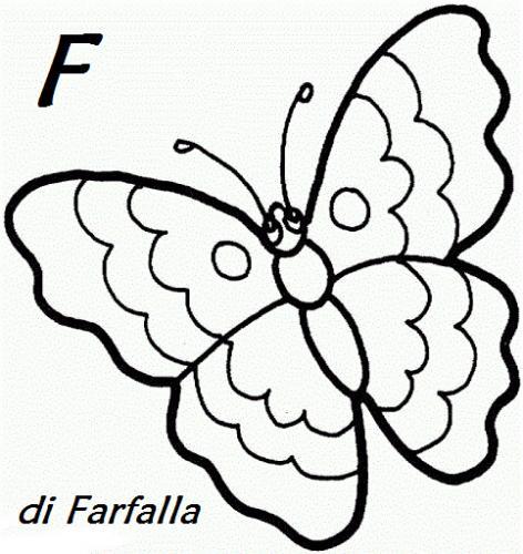 lettera F da colorare
