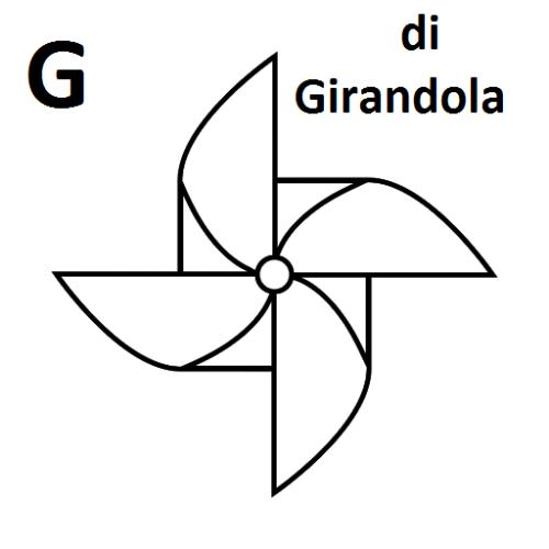 lettera G da colorare