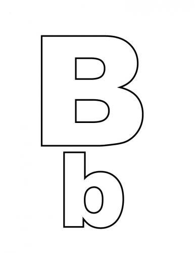 lettera b in corsivo