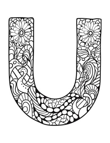 lettere alfabeto da colorare U