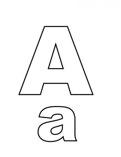 lettere alfabeto da stampare A