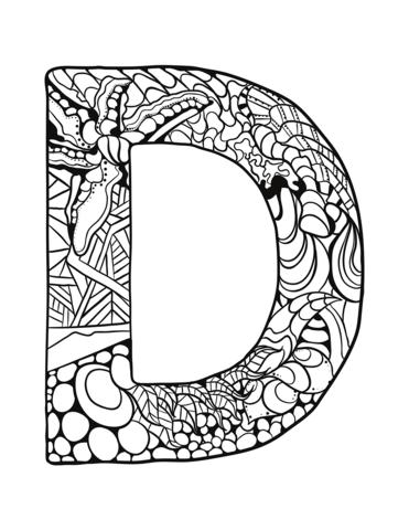 lettere alfabeto da stampare D