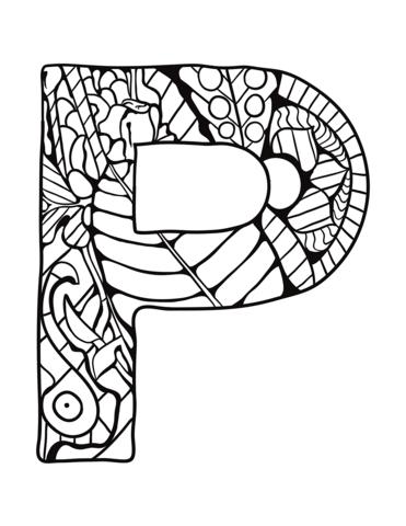 lettere alfabeto da stampare P
