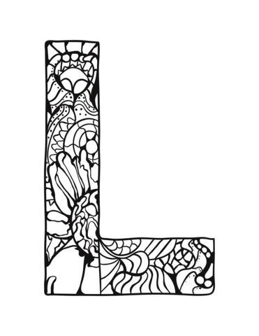 lettere alfabeto stilizzate L