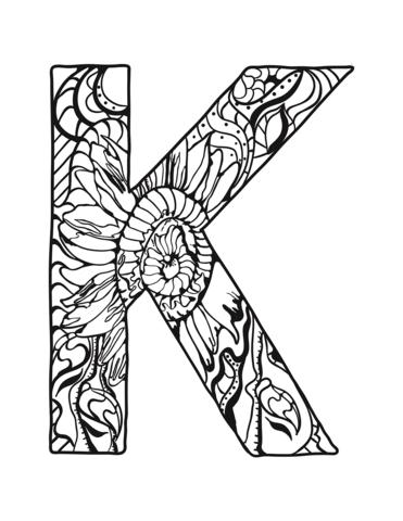 lettere alfabeto strane K