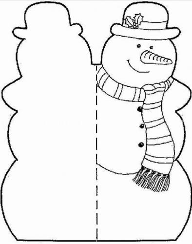 Letterina con pupazzo di neve