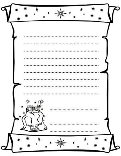 Lettera per Babbo Natale da colorare