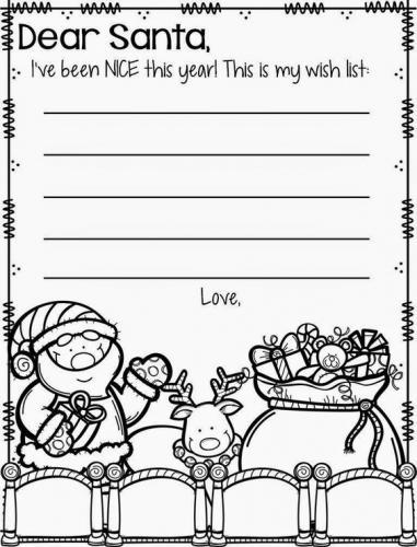 Letterina per Babbo Natale in inglese