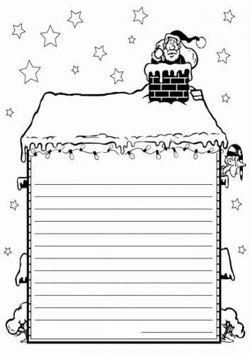 Letterina per Babbo Natale da stampare e colorare