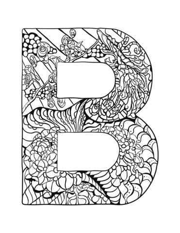 lettere da colorare B