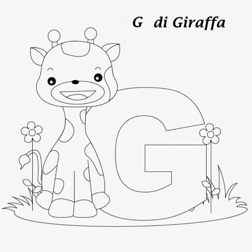 lettere da colorare G