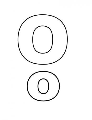 lettere da colorare O