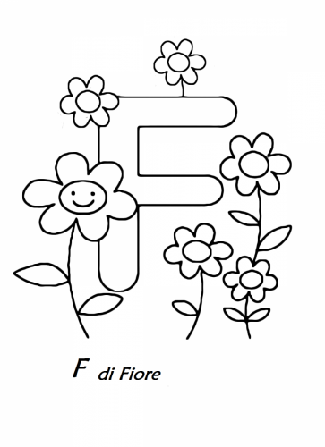 lettere da colorare e ritagliare F