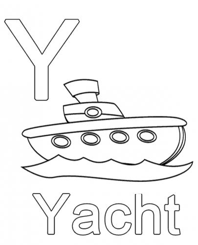 lettere da colorare e stampare Y