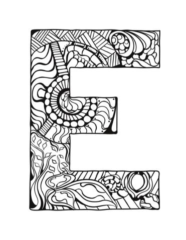 lettere da stampare E