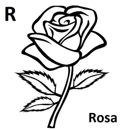 lettere dell alfabeto da colorare e ritagliare R