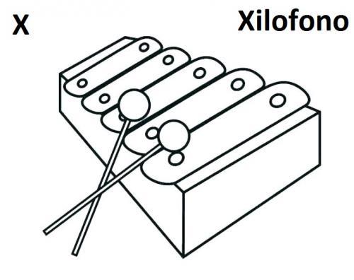 lettere dell'alfabeto da colorare e ritagliare X