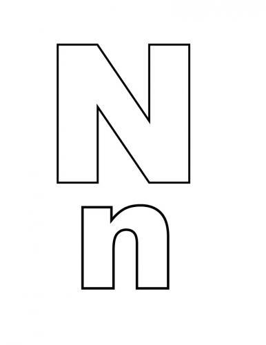 lettere dell'alfabeto italiano N