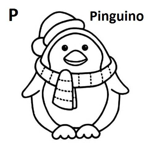 lettere dell'alfabeto da colorare e ritagliare P