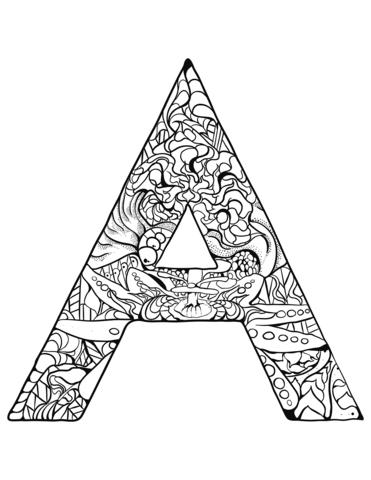 lettere grandi da colorare A