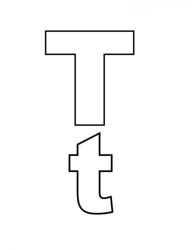 lettere stampatello T