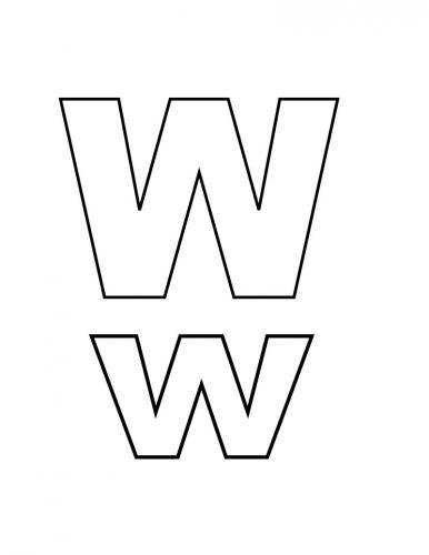 lettere stampatello maiuscolo W