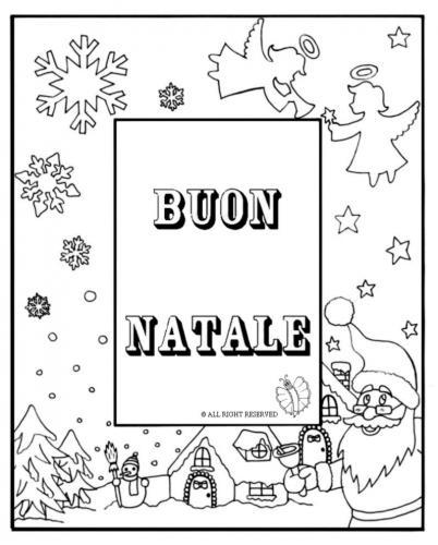Letterina di Buon Natale da colorare