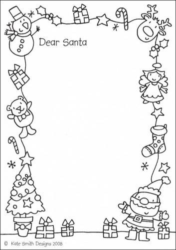 Letterina di Natale da colorare