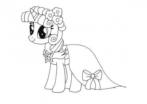 Little Pony da colorare