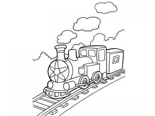 locomotiva disegno