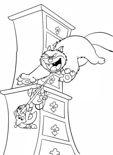 Lucifero il gatto rincorre i topini
